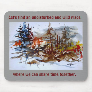 Wild Place (gray) Mouse Pad