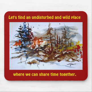 Wild Place (red) Mouse Pad