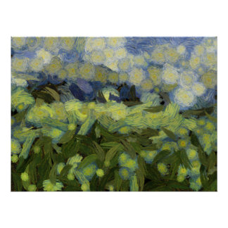 Wild plant growth under the sky poster