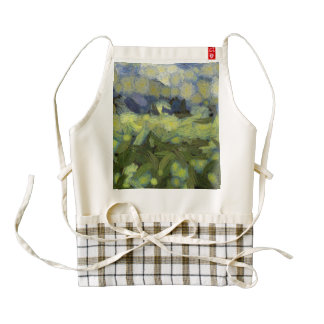 Wild plant growth under the sky zazzle HEART apron