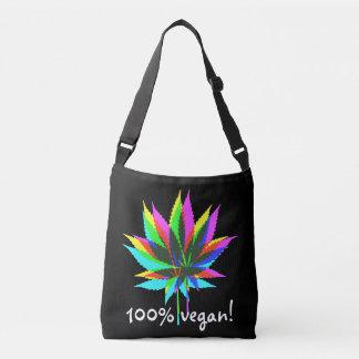 Wild Plant Leafs - neon colored + 100% vegan Crossbody Bag