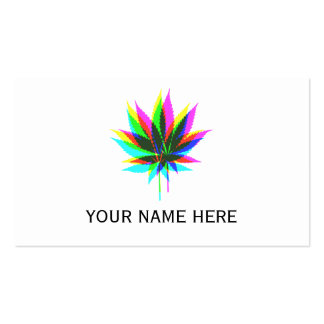 Wild Plant Leafs - neon colored + your ideas Pack Of Standard Business Cards