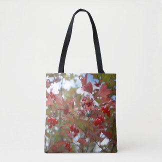 Wild Plants Red Berries Fruits Berry Photos Autumn Tote Bag
