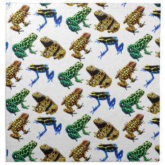 Wild Poison Arrow Dart Frogs Napkin