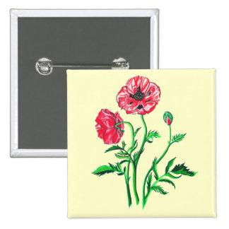 Wild Poppies Button