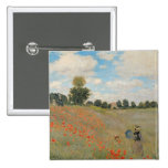 Wild Poppies, near Argenteuil 2 Inch Square Button