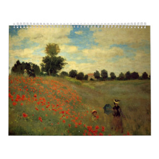 Wild Poppies, near Argenteuil Calendar