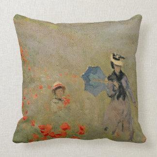 Wild Poppies, near Argenteuil Throw Pillow