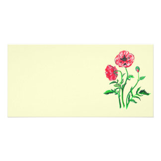 Wild Poppies Personalized Photo Card