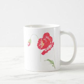 Wild poppy flower coffee mug