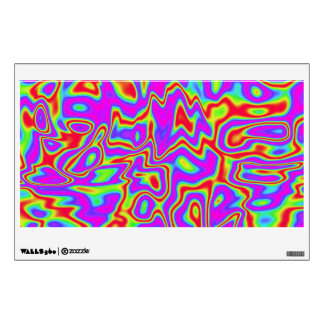 Wild Psychedelic Liquid Colors Wall Sticker