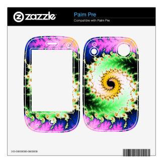 Wild Psychedelic Spiral - colorful fractal design Palm Pre Skins