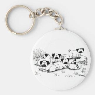 Wild Pug Grumble Keychains