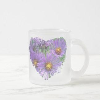 Wild Purple Asters Wildflower Mugs
