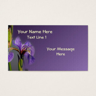 Wild Purple Blue Flag Iris Flower Business Card