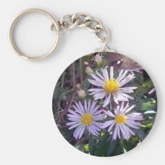 Wild Purple Daises Key Chain