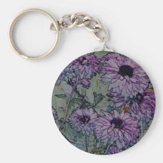 Wild Purple Flowers keychain