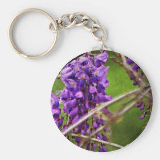 Wild Purple Flowers Keychains