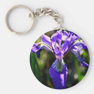 Wild Purple Iris keychain