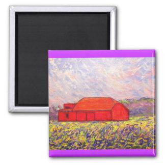 wild purple irises 2 inch square magnet