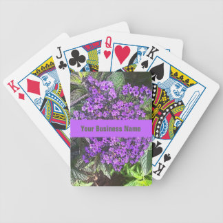 Wild purple lilac flowers with spring green leaves bicycle playing cards
