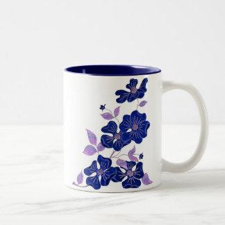 Wild Purple Rose Two-Tone Coffee Mug