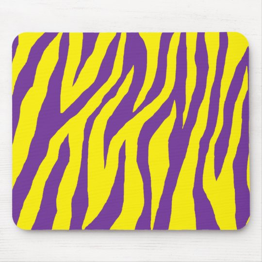 Wild Purple & Yellow Zebra Mouse Pad