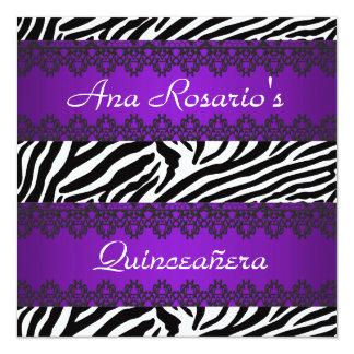 Wild Quinceañera Purple Invitation