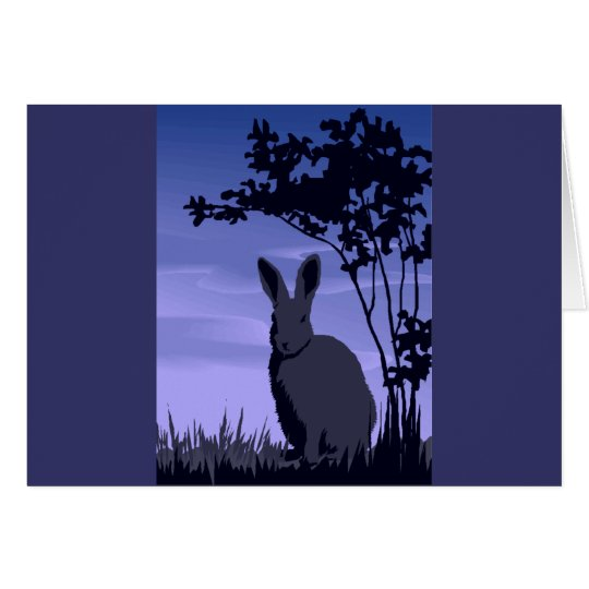 Wild Rabbit Card