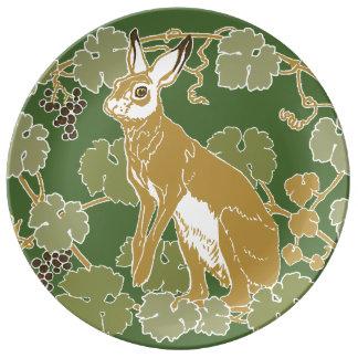 Wild Rabbit Dinner Plate