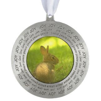 Wild Rabbit Round Ornament