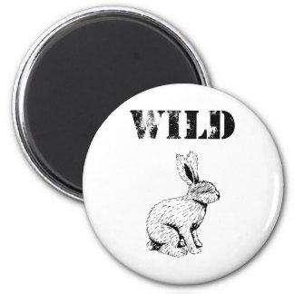 Wild Rabbit 2 Inch Round Magnet