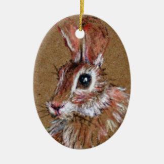 Wild Rabbit Ornament
