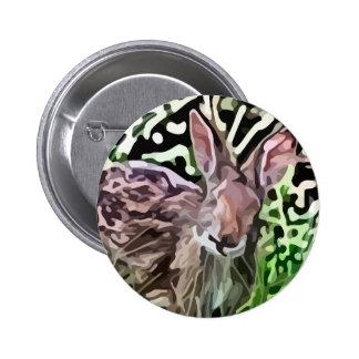 wild rabbit painting button