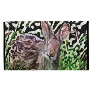 wild rabbit painting iPad folio cover