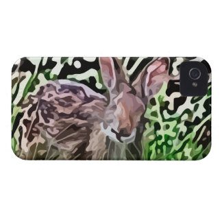wild rabbit painting iPhone 4 cover