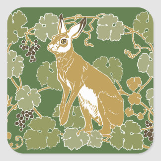 Wild Rabbit Square Sticker