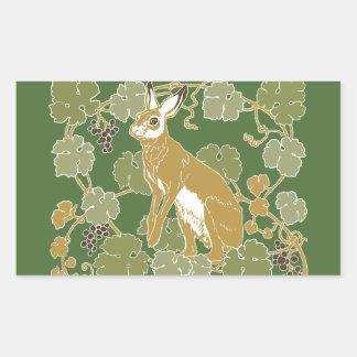 Wild Rabbit Rectangular Sticker