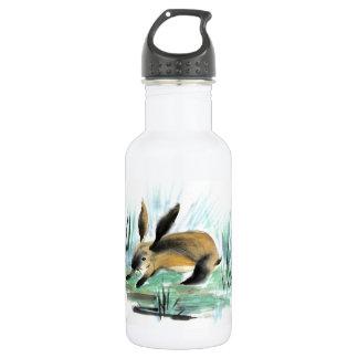 Wild Rabbit , Sumi-e Water Bottle