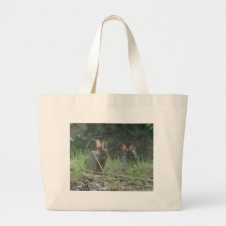 Wild Rabbits Eastern Cottontail Pair Apparel Gifts Large Tote Bag