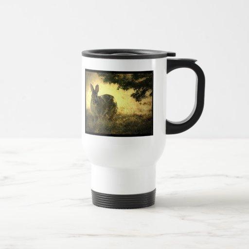 Wild Rabbits Plastic Travel Mug