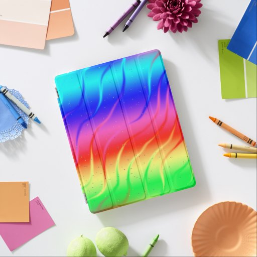 Wild Rainbow Colors iPad Smart Cover
