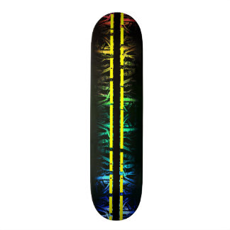 Wild Rainbow Striped Skateboard