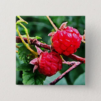 Wild Raspberries Button
