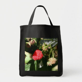 Wild Raspberries Grocery Tote Bag