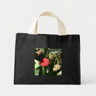 Wild Raspberries Tiny Tote Bag