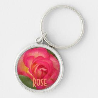 Wild Raspberry Rose Keychain