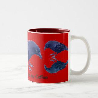 Wild Raven Wildlife Photo Gift Two-Tone Coffee Mug