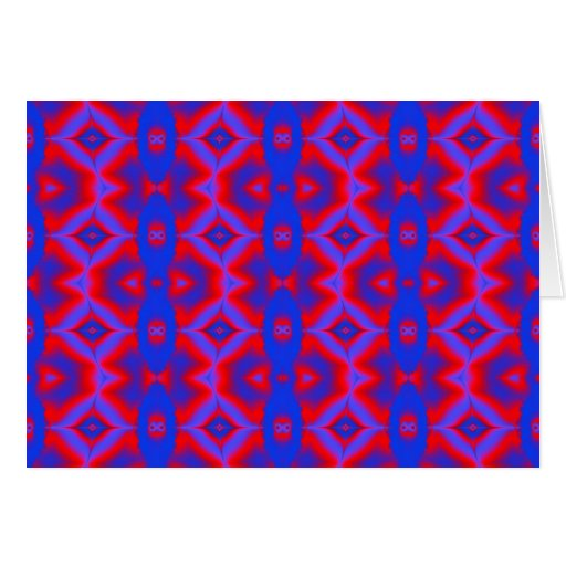 wild red blue greeting card