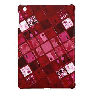 Wild Red/Burgundy Tile abstarct iPad Mini Covers